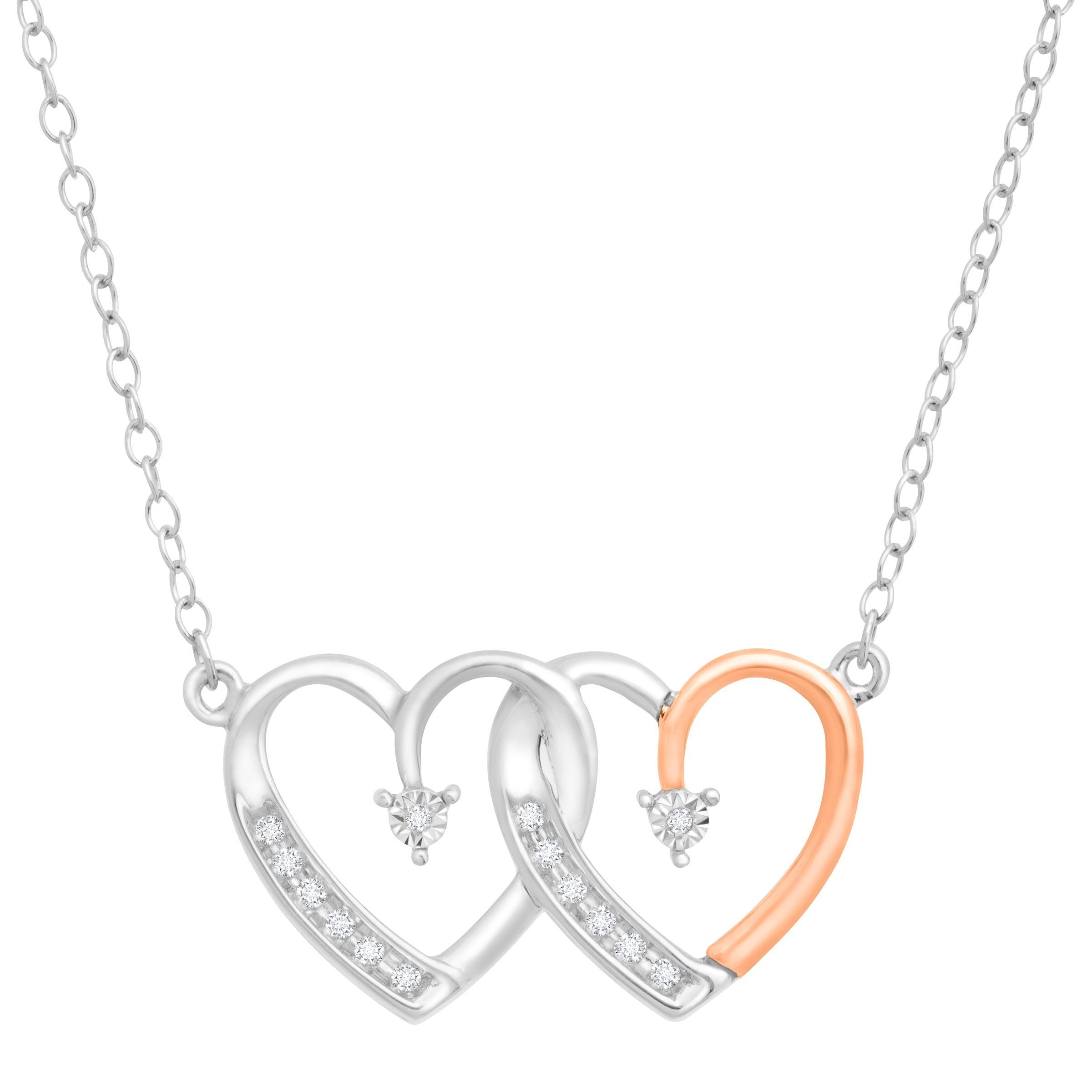 silver h double gold number product webstore zirconia cubic heart pendant necklace and d samuel