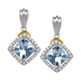 1 3/4 ct Aquamarine Earrings
