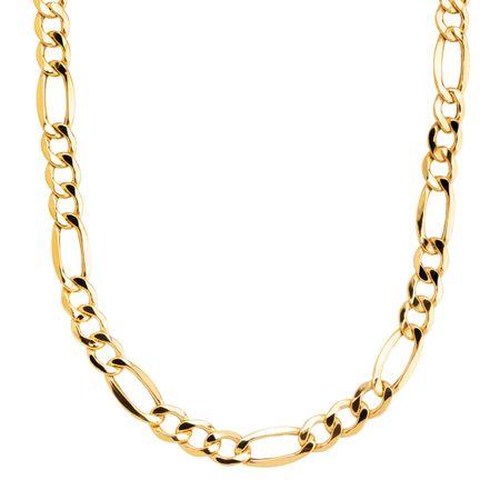 Eternity Gold Men S Classic Figaro Chain Link Necklace In 10k Gold 22 Men S Figaro Chain Necklace Jewelry Com