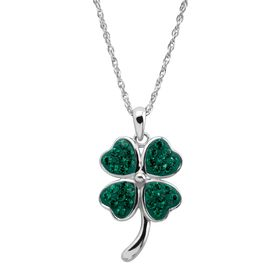 Clover Pendant with Swarovski Crystals