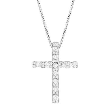 Classic Cross Pendant with Cubic Zirconia