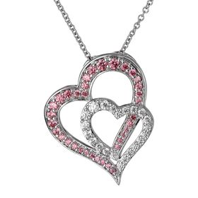Touching Hearts Pendant with Swarovski Zirconia