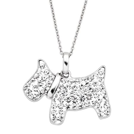 Scottish Terrier Pendant with Crystals