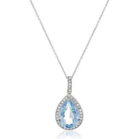 Pear Pendant with Blue Swarovski Crystals