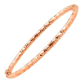 Crystal-Cut Bangle Bracelet