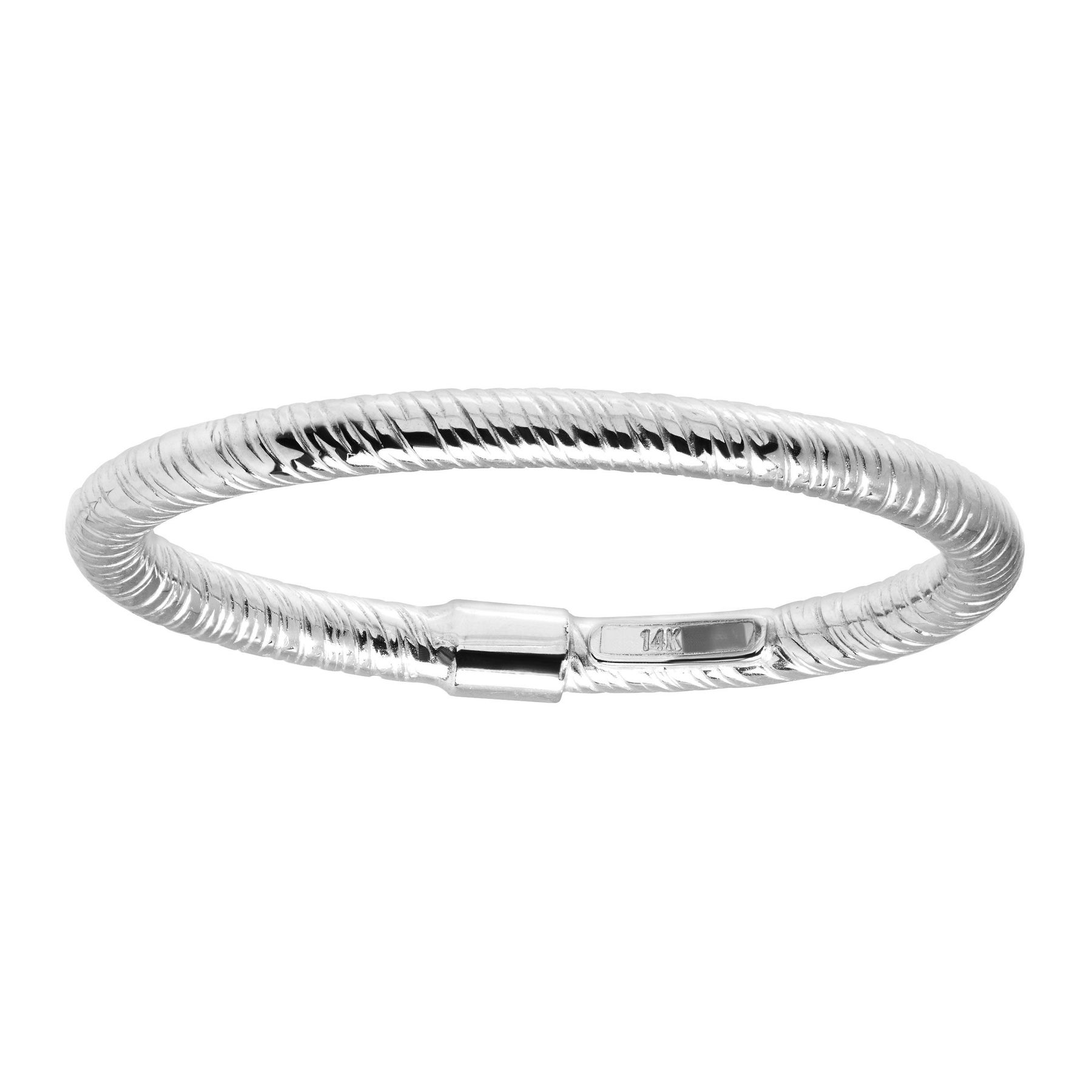 45584b31f8 Eternity Gold Textured Band Ring in 14K White Gold | Textured Band ...