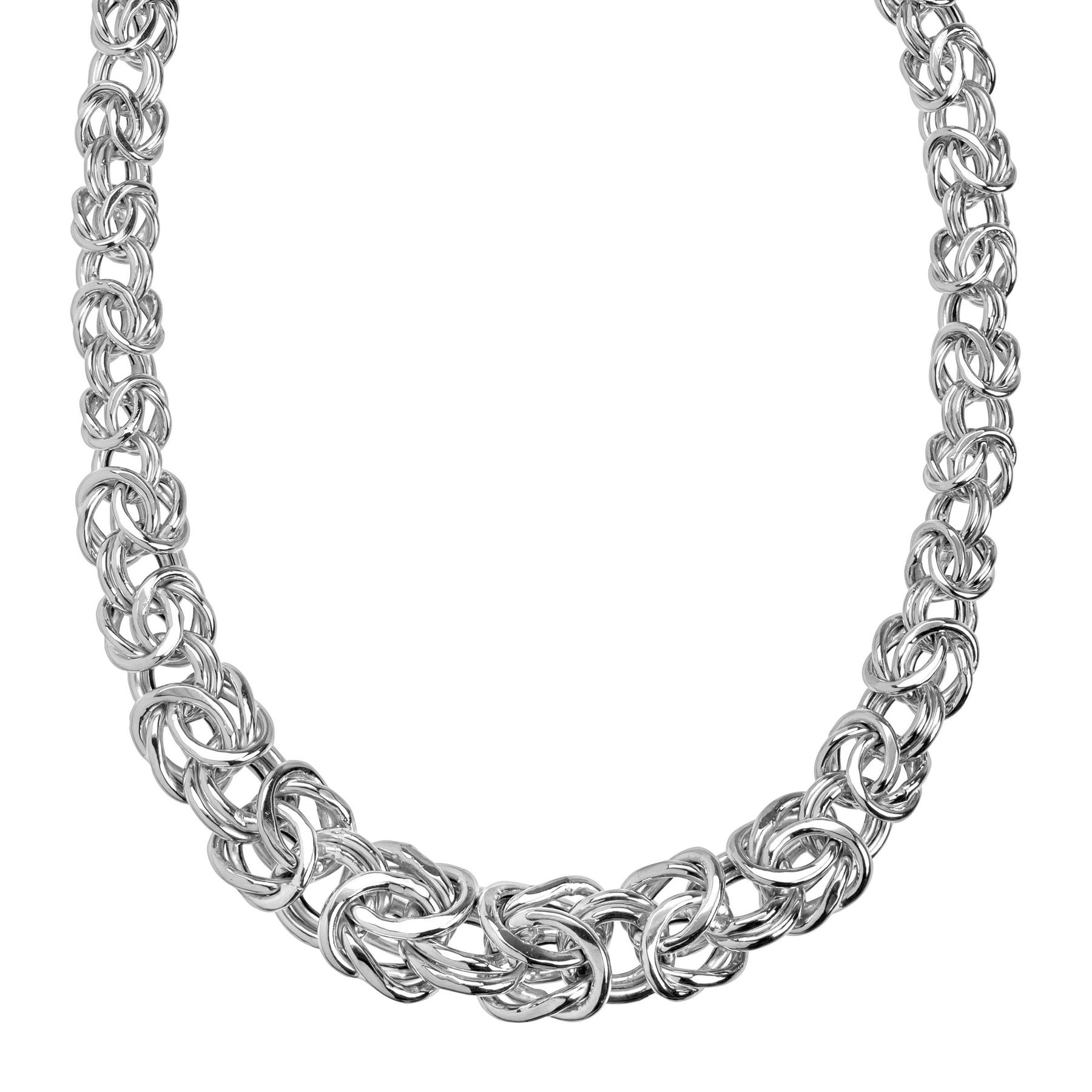 silver antiqued chain nickel finish round necklace necklaces byzantine free sterling products bracelets