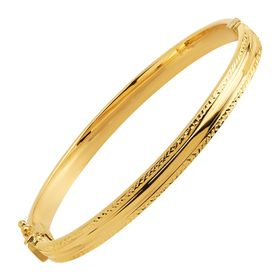 Diamond-Cut Bangle Bracelet