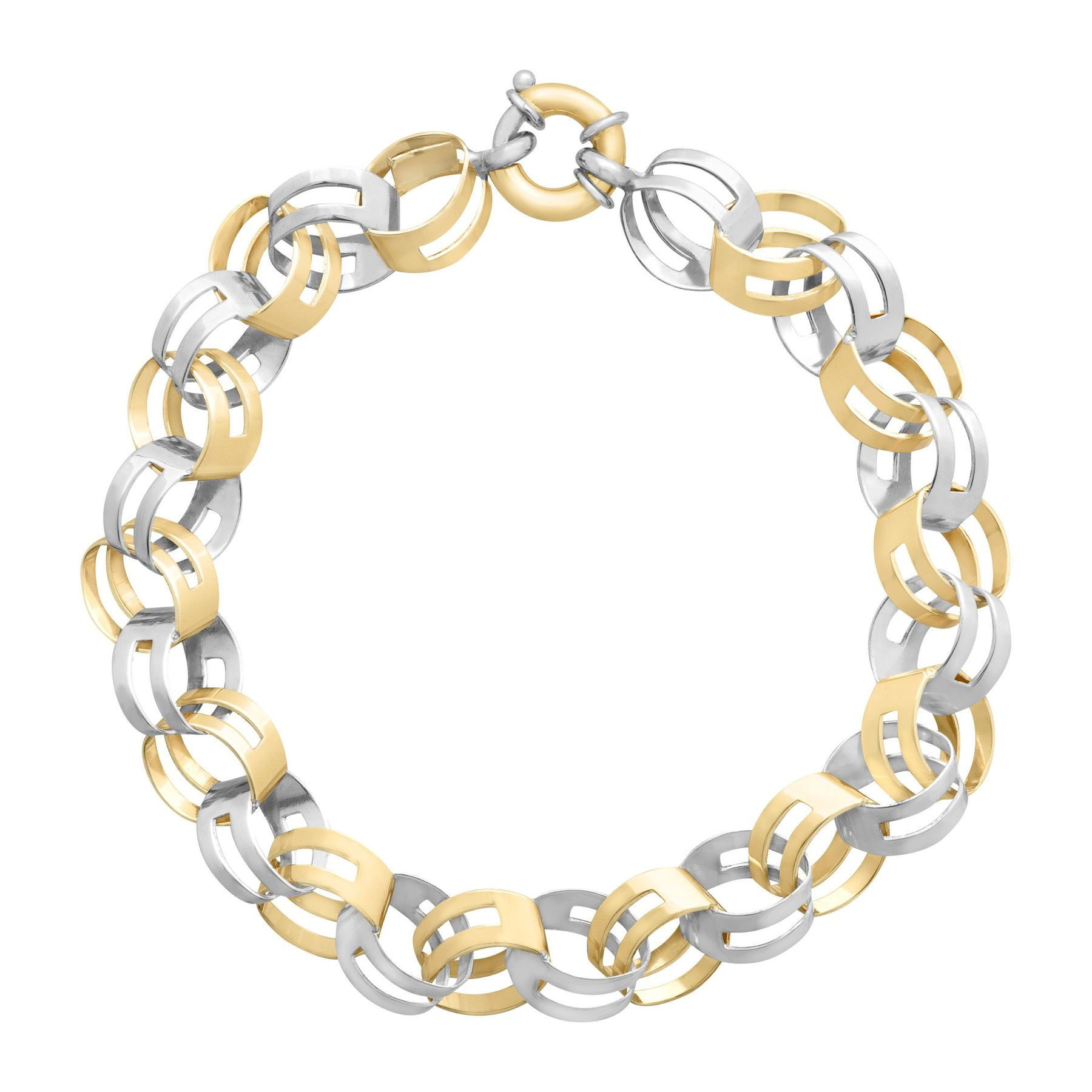 tone infinity silver gold woven plated cubic bracelet garnier charles jewelry sterling in with two zirconia