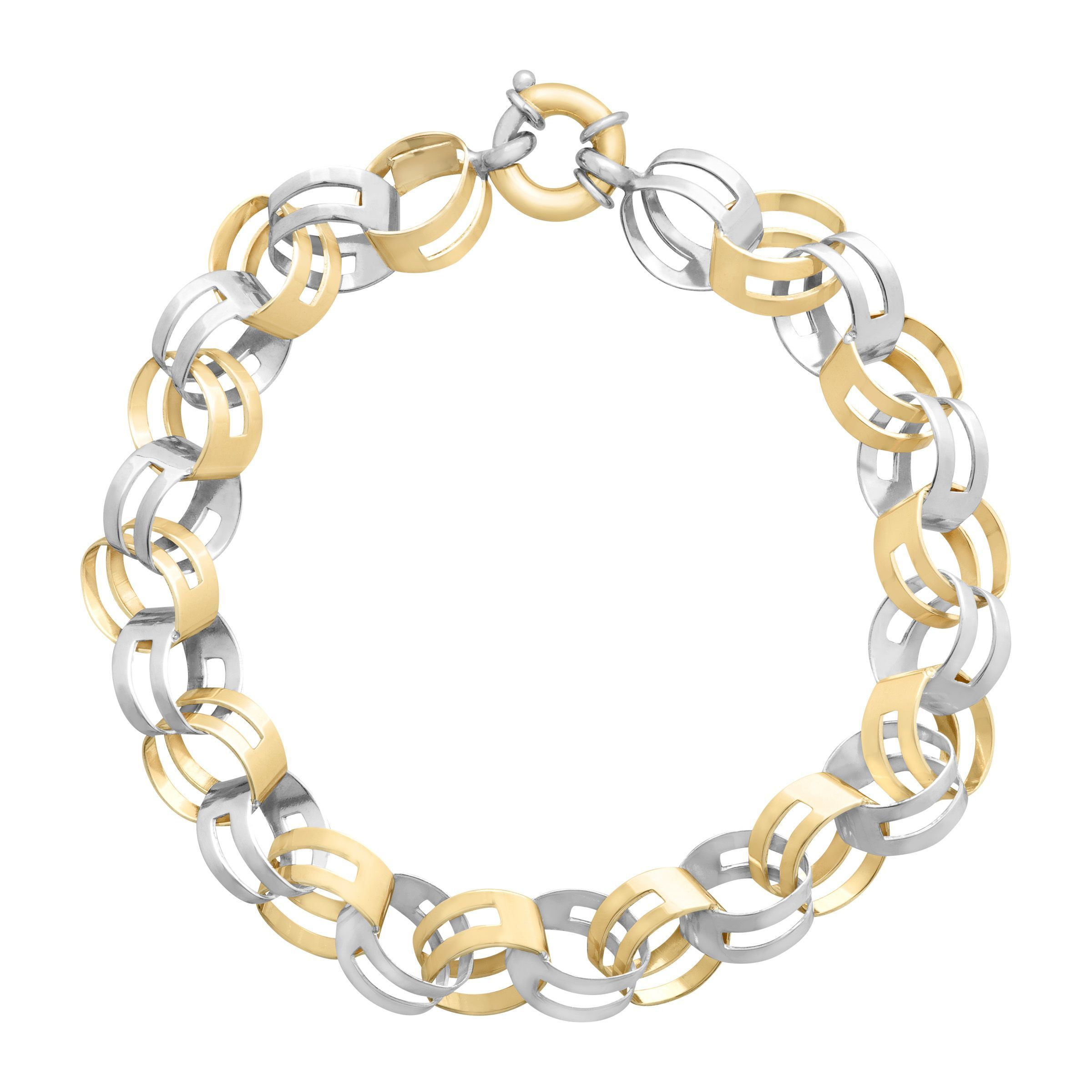 Double-Link Bracelet in 14K Gold-Bonded Sterling Silver