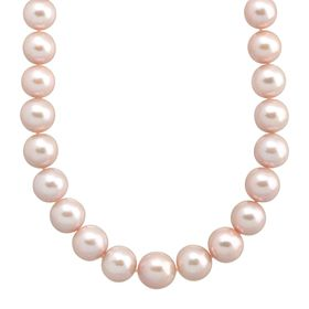 12-16 mm Pink Ming Pearl Strand Necklace, 20""