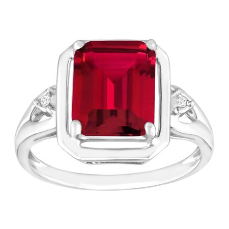 Ruby Ring with Diamond Accents