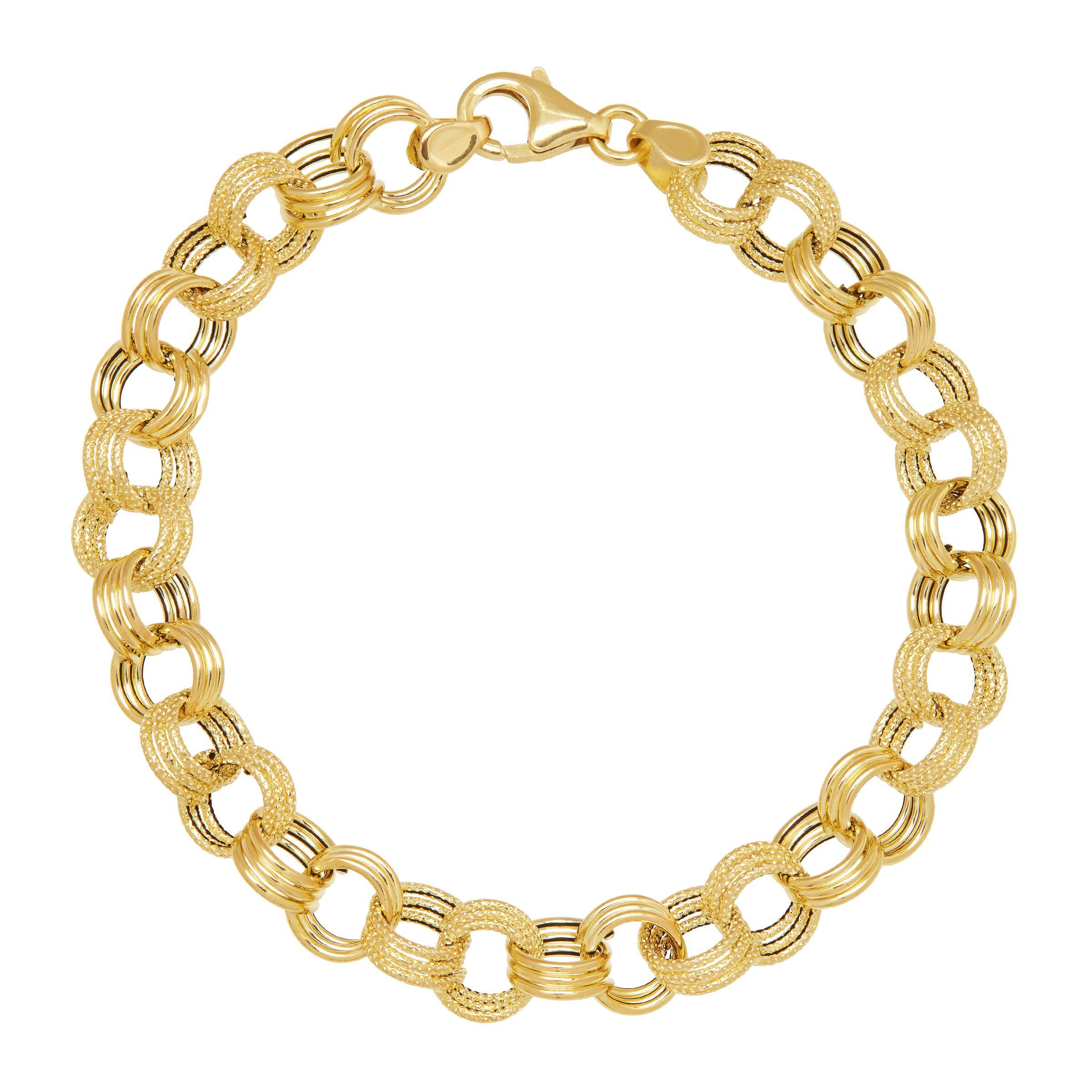 bracelet gold cubanlinks inches link mens jewellery cuban product in style