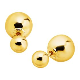 Front-Back Ball Stud Earrings