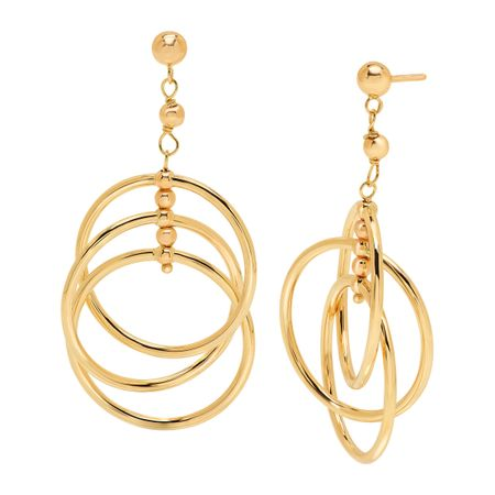 a1906e71f Eternity Gold Interlocking Circles Drop Earrings in 14K Gold ...