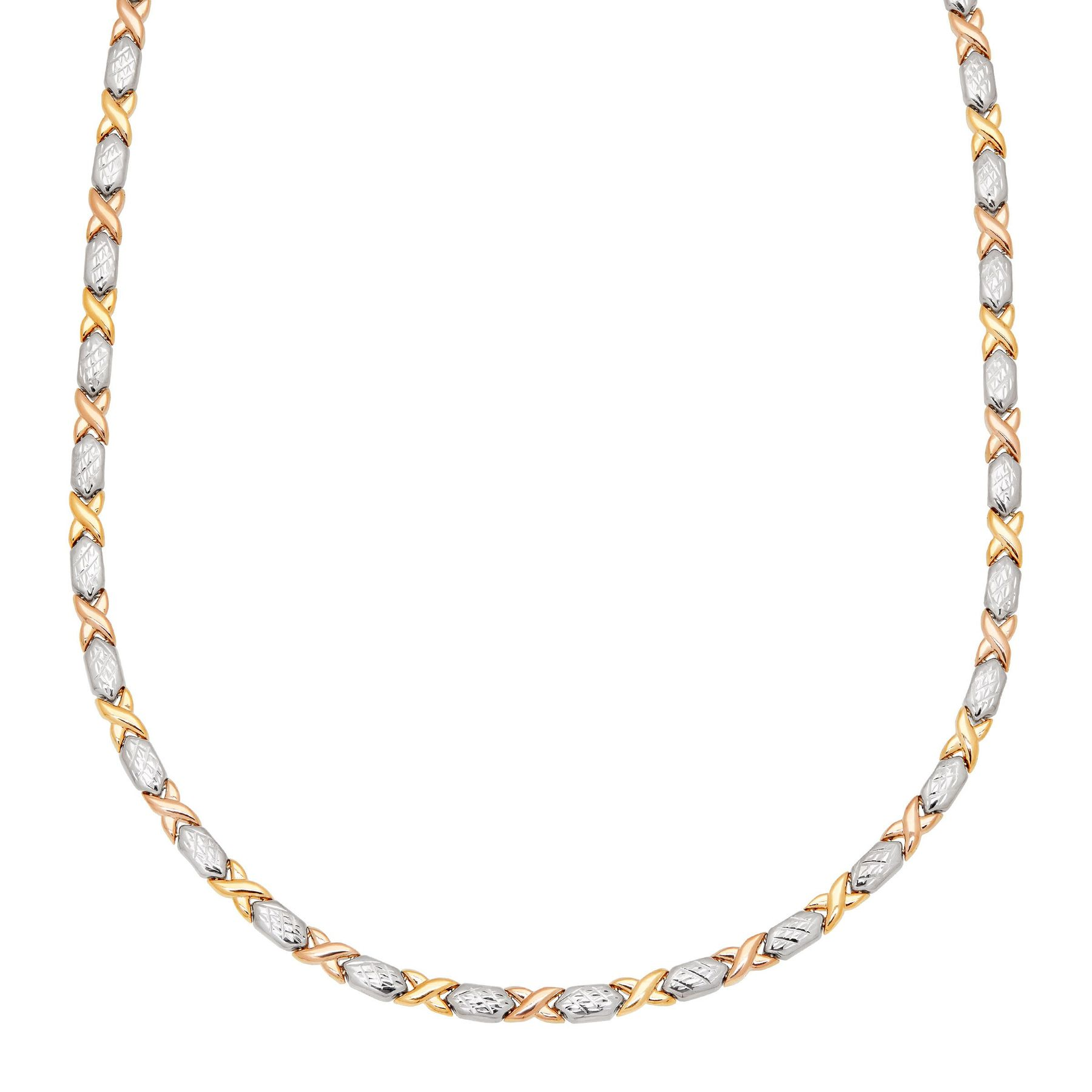 grahams necklet georgina two gold tone multi a links roller solid chain image necklace jewellers