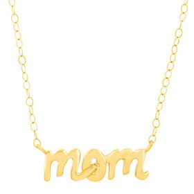 'Mom' Script Necklace