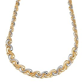Wave Swirl Link Necklace