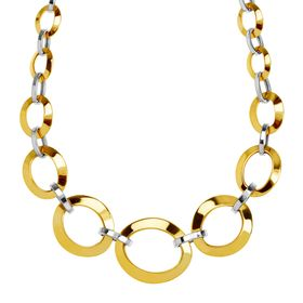 Graduated Oval Link Chain Necklace, 18""