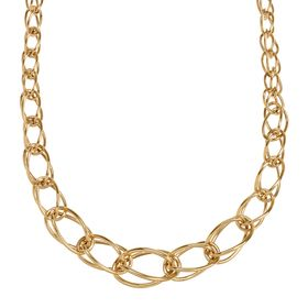 Oval Graduated Link Necklace, 18""