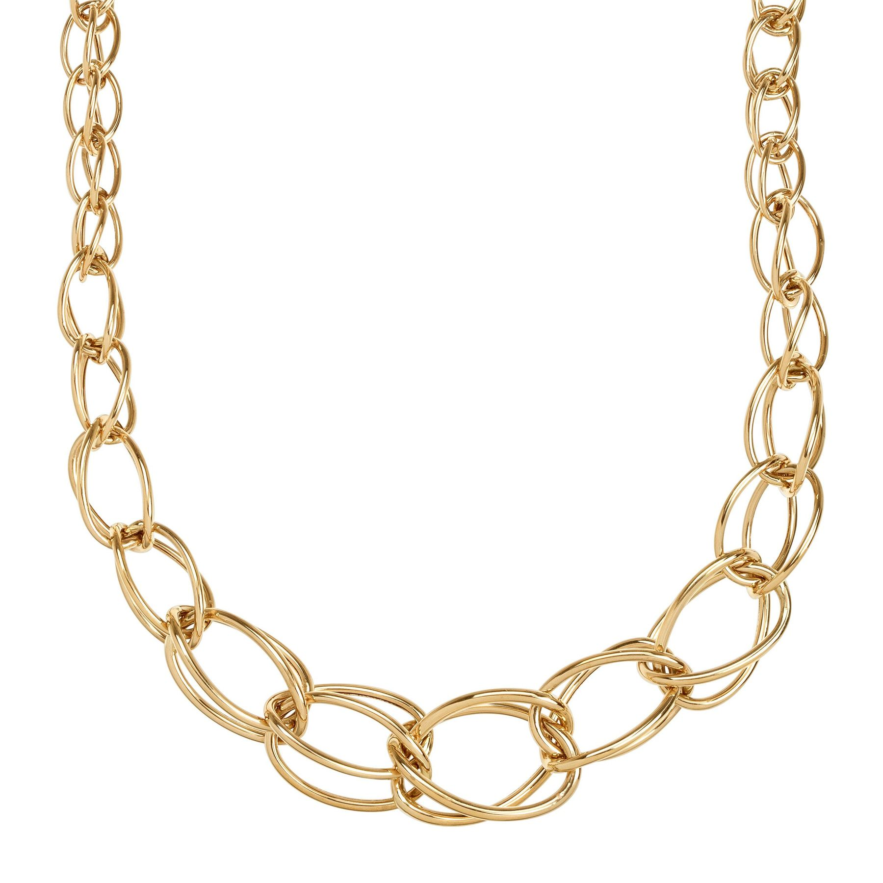 e28755ffe25 Eternity Gold Oval Graduated Link Necklace