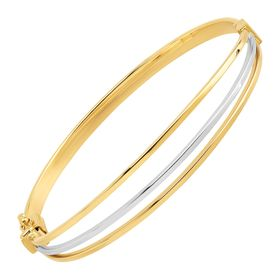Two-Tone Hinge Bangle
