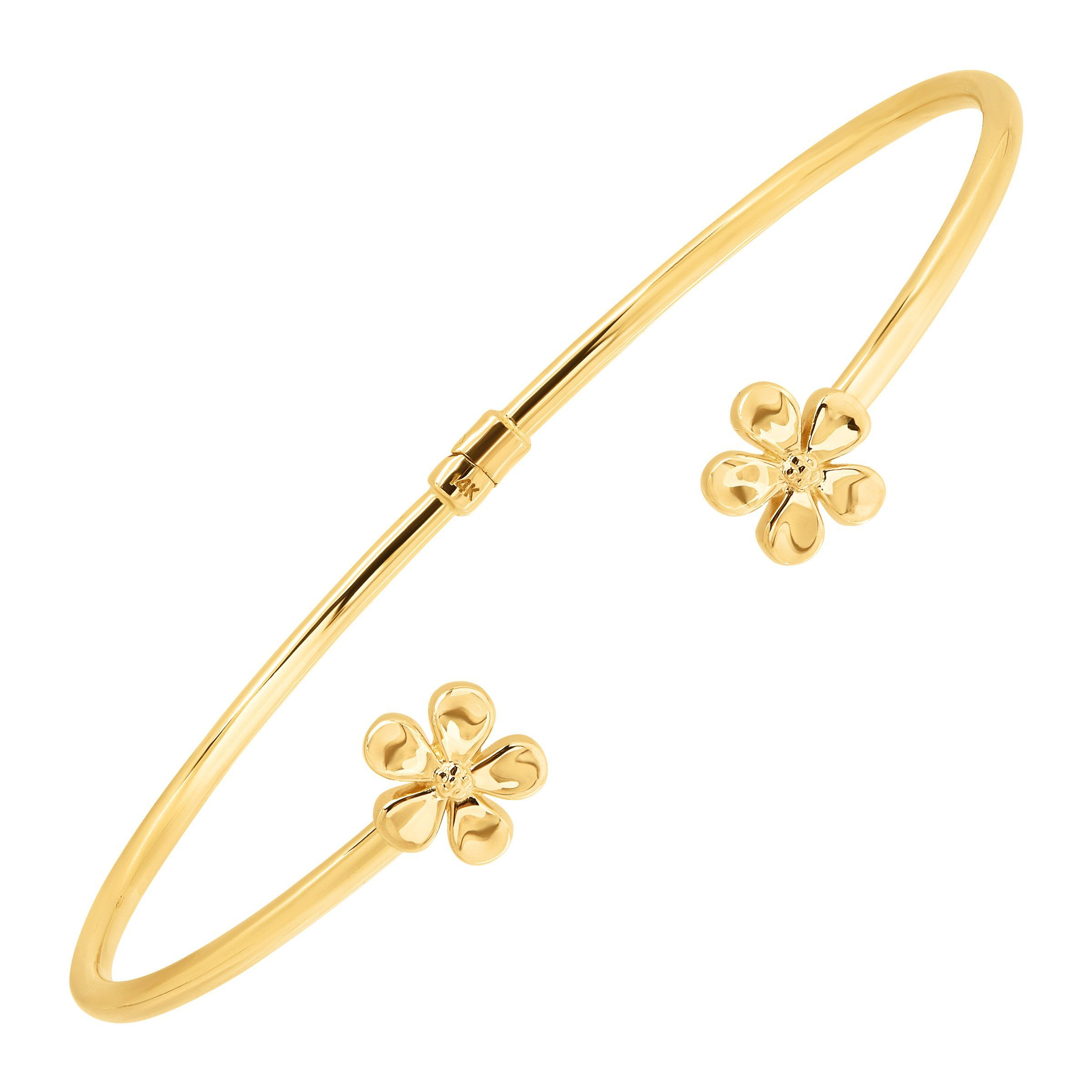 congress hibiscus jewelers small product yellow bracelet gold