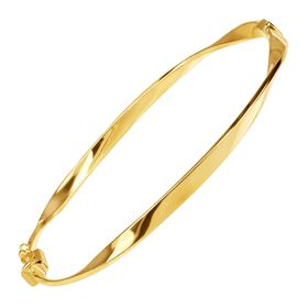 Twisted Hinge Bangle Bracelet, 8""