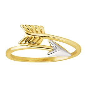 Wrap-Around Arrow Head Band Ring