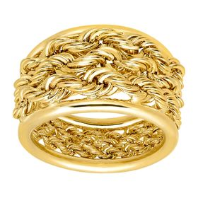 Triple Rope Band Ring