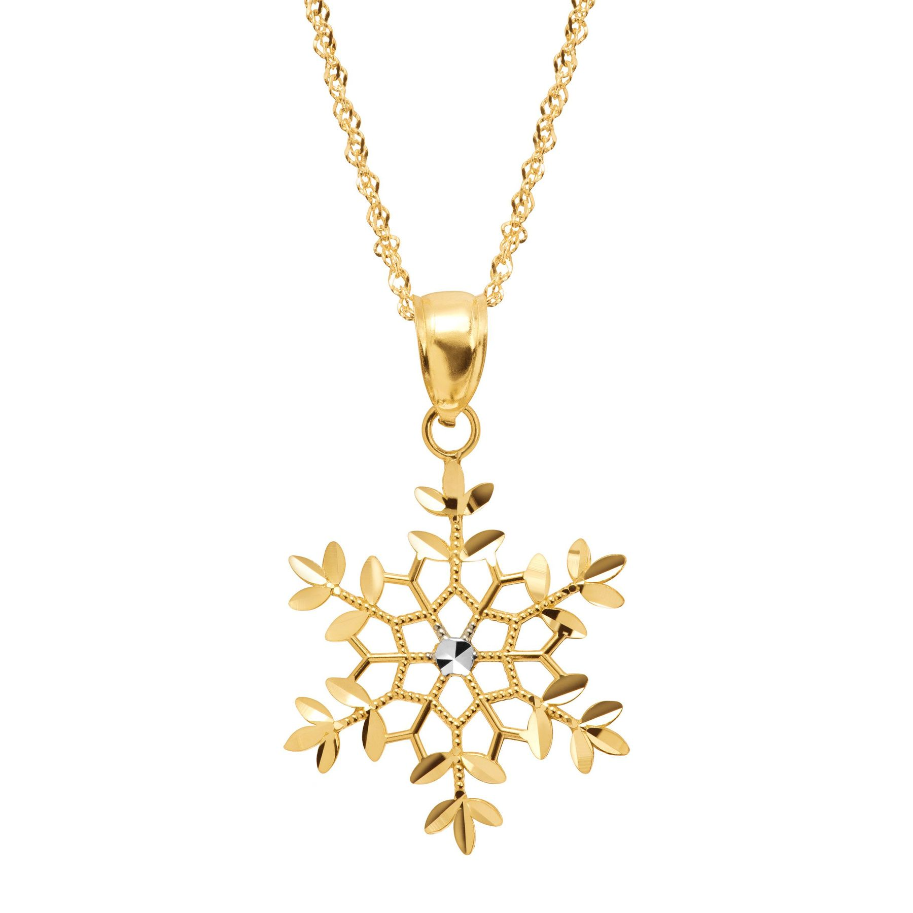 necklace original pendant dizzy snowflake gold com product notonthehighstreet by