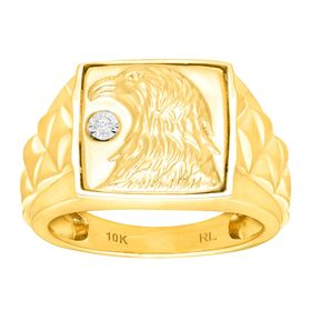 Men's Eagle Ring with Diamond