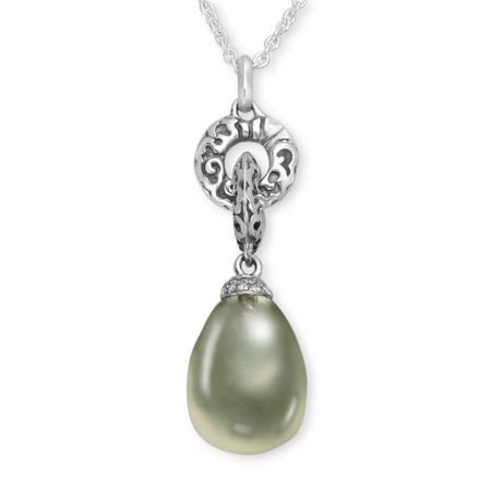 with necklace pear com green sterling pendant silver amethyst shape genuine dp ct amazon