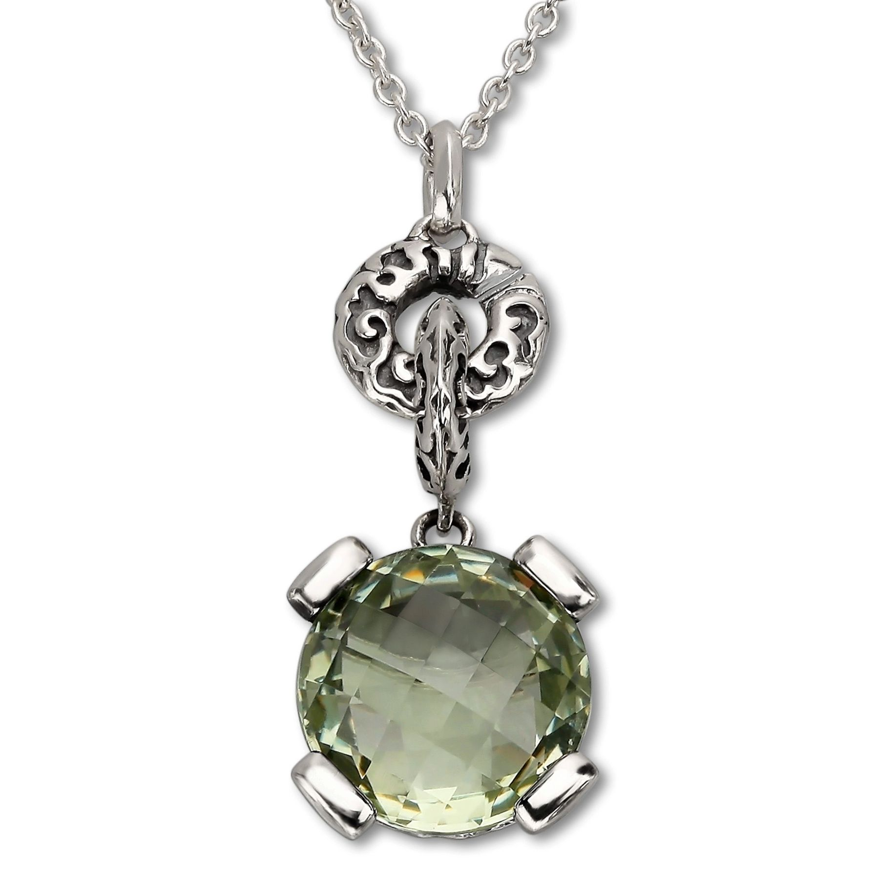 Evert degraeve 6 ct green amethyst pendant in sterling silver 6 ct 6 ct green amethyst pendant aloadofball Image collections