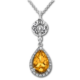 2 3/4 ct Citrine Pendant