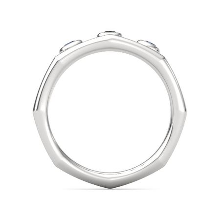 Split Bamboo Three-Stone Ring