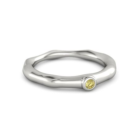 Bamboo One-Stone Ring