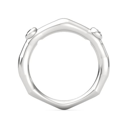 Bamboo Two-Stone Ring