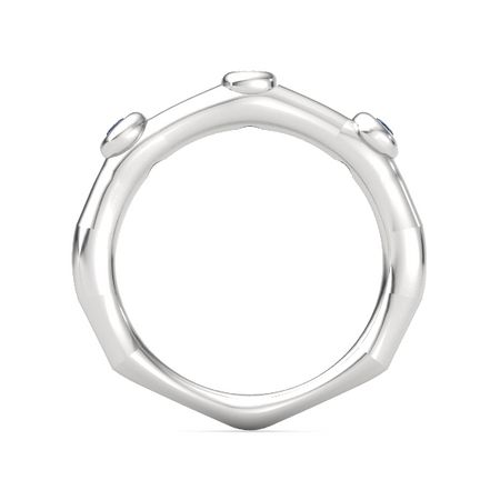 Bamboo Three-Stone Ring