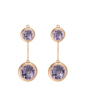 14K Rose Gold Earrings with Rose de France