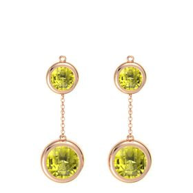 14K Rose Gold Earring with Lemon Quartz
