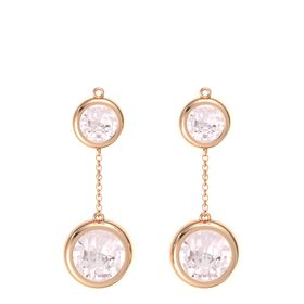14K Rose Gold Earrings with Rose Quartz