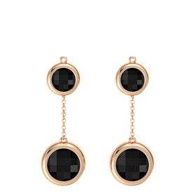 14K Rose Gold Earring with Black Onyx