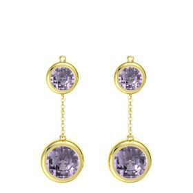 14K Yellow Gold Earrings with Rose de France