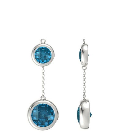 Pure Round Drop Earrings