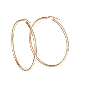 Lustrous Hoop Earrings (35mm)