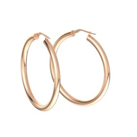 Lustrous Hoop Earrings (30mm)