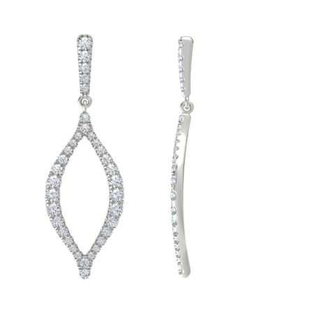 Trace Medium Marquise Earrings