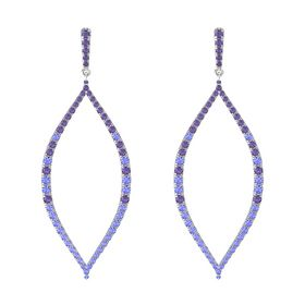 Sterling Silver Earrings with Iolite & Tanzanite