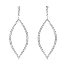 14K White Gold Earring with Diamond